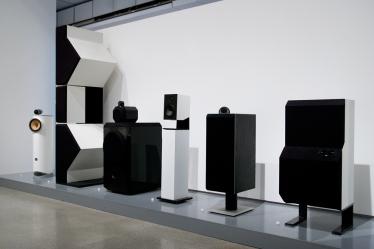 Stand B&W à la rétrospective Grange du Design Museum.