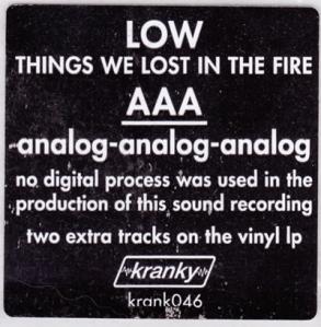 Fit de l'infamant DDD sensé décrire la qualité des premiers CD. Voici un véritable signe de qualité digne des andouillettes.