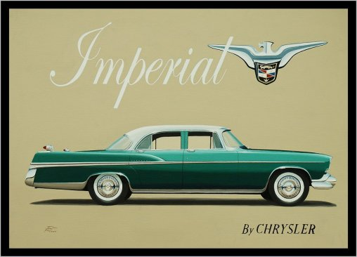La Chrysler Imperial fut parmi les premières à recevoir la transmission Torqueflite en 1956.