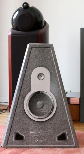 Afin de ne pas désorienter l'audiophile et de permettre d'identifier la surface d'émettrice principale, le constructeur a prévu une discrète décoration.