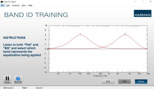 C'est simple : on écoute EQ ou Flat et on choisit sur la courbe la réponse.