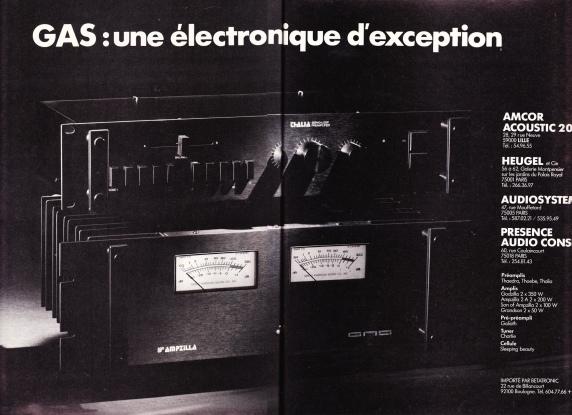 Publicité pour GAS, NRDS 1978