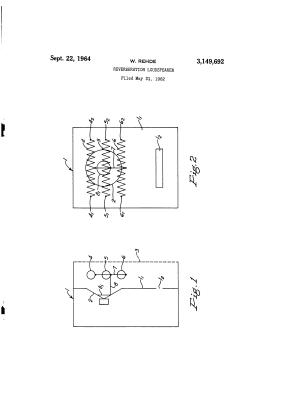 Le schéma original du hait-parleur à résonateur.